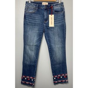 DRIFTWOOD NWT Colette Embroidered Jeans